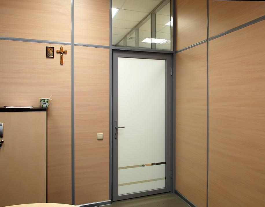 дверь офисная металлическая стекло цена